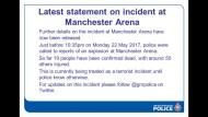 亞莉安娜曼徹斯特演唱會疑遭自殺炸彈