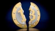 比特幣確定分裂!新幣價格上沖下洗、飆50%後狂瀉