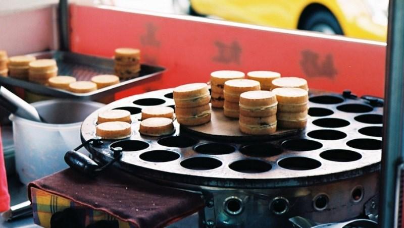 紅豆餅 小吃 攤販