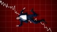 台股收盤慘崩660點,創下史上最大