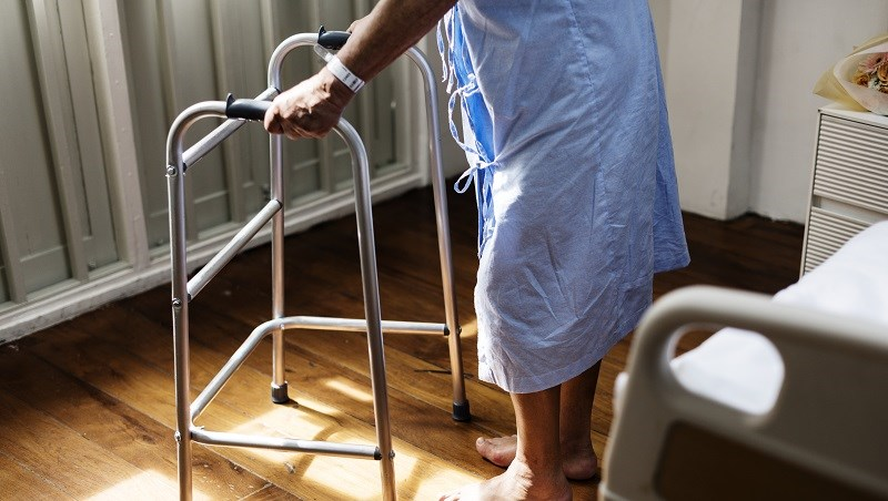 住院,醫療,保險,生病,拐杖,老人,長照