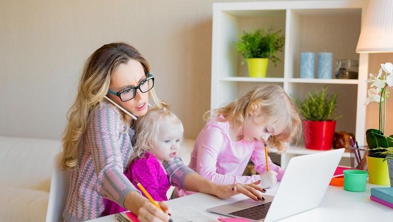 媽媽,帶小孩,母親,家事,教育