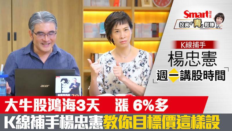 影片》大牛股鴻海3天飆漲6%多!K線捕手楊忠憲教你設「目標價」